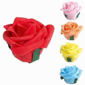 Bouton de rose GM sur pique décoratif pour glaces, gâteaux et cocktails - Mondo Déco