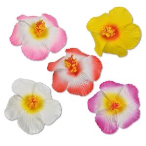 Fleurs hibiscus sur pince pour décorer vos gâteaux et cocktails
