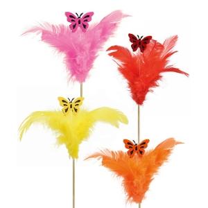 plumes papillon solo - pic de décoration gâteau plumes et papillons - Mondo Déco