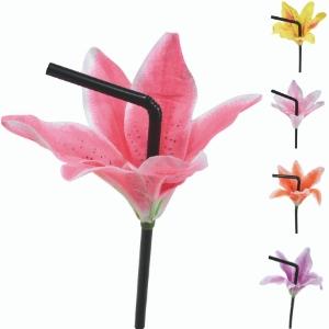 Pailles fleur de lys, Fleur de lys sur paille pour décorer cocktails et smoothies