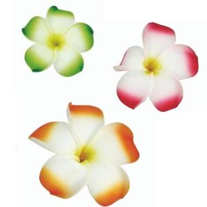 Fleurs de frangipanier PM sur pique, décoration cocktails et glaces - Mondo Déco