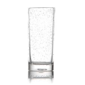Verre tube artisanal transparent bullé - Mondo Déco
