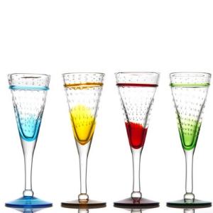 verres Flute - verres à pied artisanal - Pour cocktails, champ', cidre... - Mondo Déco