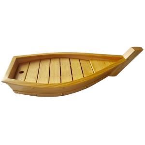 Bateau Bois grand modèle, présentation fruits de mer, spécialités, apéritifs, wraps, sushis - Mondo Déco