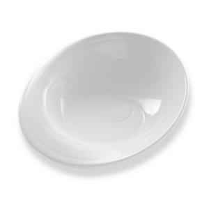 Assiette Bergame, creuse blanche - Mondo Déco