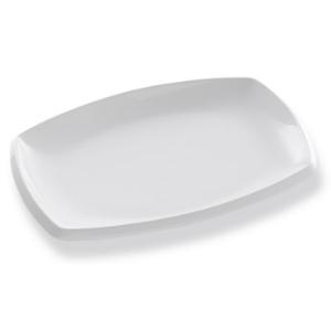 Assiette Danube plate et rectangulaire blanche - Mondo Déco