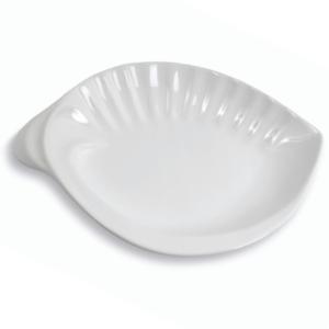 Assiette Lambi plate et blanche - Mondo Déco