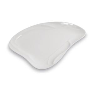 Assiette Voile pm, blanche et plate - Mondo Déco