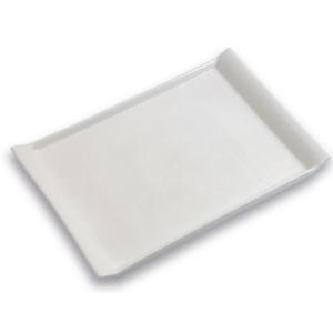 Assiette plateau grand modèle, blanc - Mondo Déco