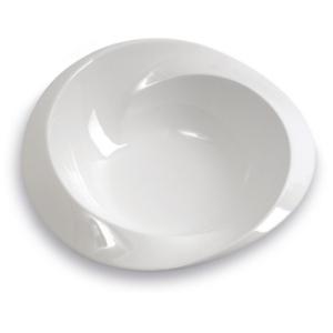 Assiette Saturne creuse, blanche - Mondo Déco
