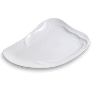 Assiette voile, plate, blanche - Mondo Déco