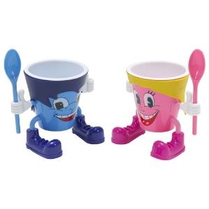 Coupe enfant - Coupe à glace en plastique pour enfant, cuillères incluses - Mondo Déco
