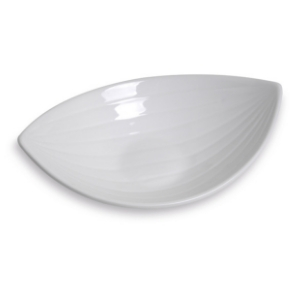 Assiette Hamac grand modèle, assiette creuse et originale, blanche - Mondo Déco