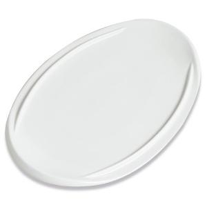 Assiette Ovalie plate, blanche - Mondo Déco