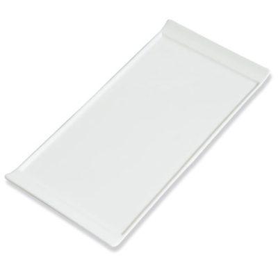 Assiettes Lift GM - assiette plateau en céramique blanche - mondo déco
