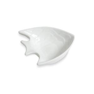 Coupelle scalaire en forme de poisson, blanche - Mondo Déco