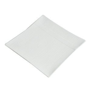 Assiettes Carrée Zen, plate et blanche - Mondo Déco