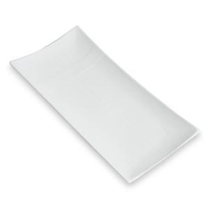 Assiette Rectangle Zen, plate et blanche - Mondo Déco