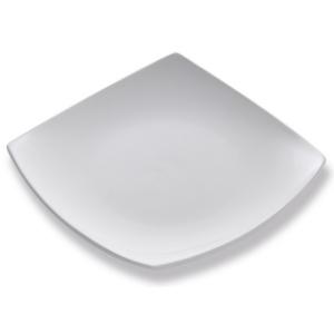 Assiettes Carrée blanche, assiette à dessert, plate - Mondo Déco