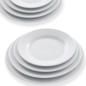 Assiettes rondes plates - Mondo Déco