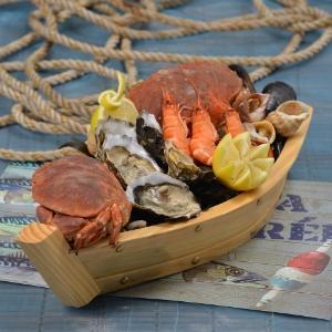 Plateaux, assiettes pour fruits de mer