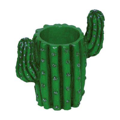 Porte-verres cactus - vert - décoration coctkails - mondo déco
