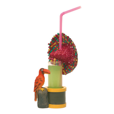 mini porte-verres Toucan - décoration cocktails - mondo déco