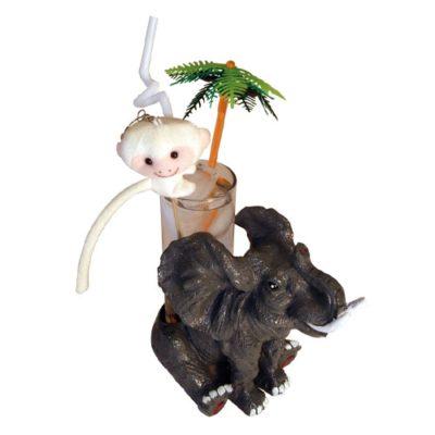 Mini porte-verres Éléphant assis décoration cocktail - mondo déco