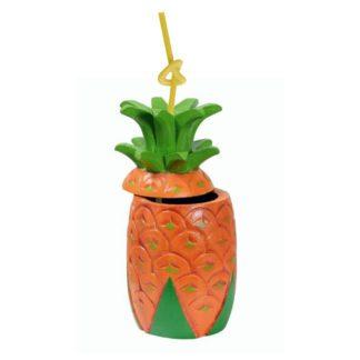Porte-verre ananas avec trou pour paille - déco cocktail - mondo déco