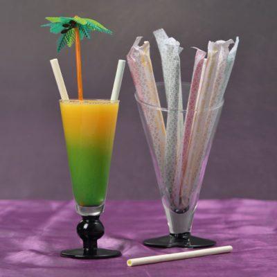 Pailles comestibles - décors pour glaces et cocktails - mondo déco