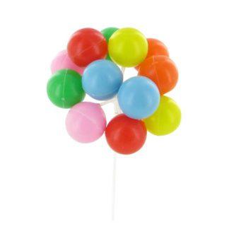 Ballons multicolores - décors pour glaces et cocktails - mondo déco
