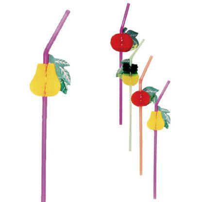 Pailles Petit Fruit - Décors pour glaces et cocktails - mondo déco