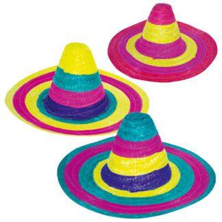 Chapeau Mexicain Couleur - chapeau taille adulte - mondo déco