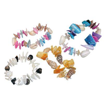 Bracelet coquillages élastique - cadeau menu enfant - mondo déco
