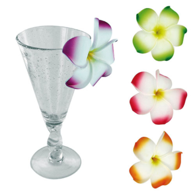 Broches Fleurs de Frangipanier - Décors glaces et cocktails - mondo déco