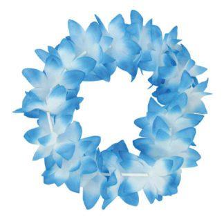 Bracelets doubles hawaïens blancs/bleus