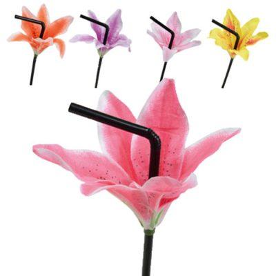 Pailles Lys, pailles à fleur - Décors pour cocktails - Mondo Déco