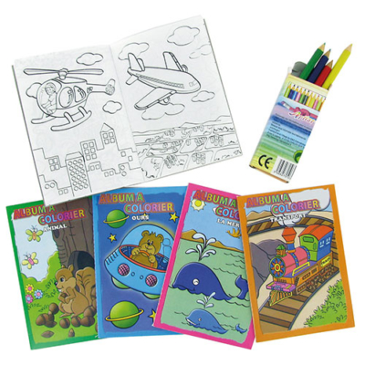 Set Coloriage - Cadeau pour menu enfant - mondo déco